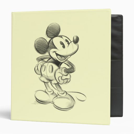 Sketch Mickey Mouse Binder