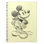 Sketch Mickey Mouse Spiral Notebook