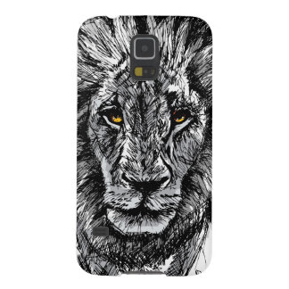 Sketch of a big male African lion Galaxy S5 Cover