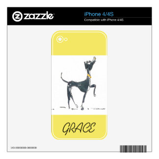 Sketch of a Dog iPhone 4/4S Skin Skins For The iPhone 4S