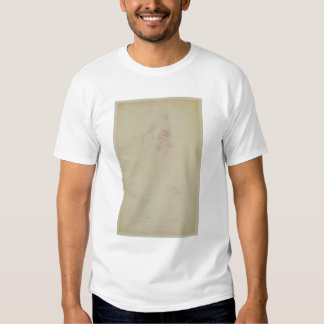 Sketch of a male head and two legs tees