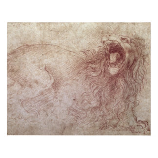 Sketch of a roaring lion panel wall art