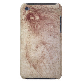 Sketch of a roaring lion (red chalk on paper) barely there iPod case
