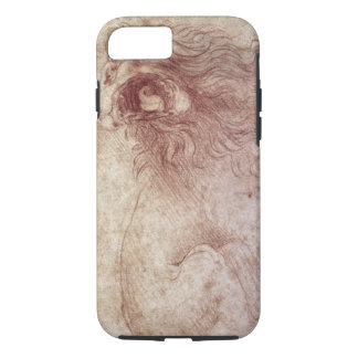 Sketch of a roaring lion (red chalk on paper) iPhone 7 case