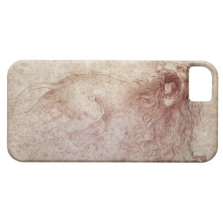 Sketch of a roaring lion (red chalk on paper) iPhone SE/5/5s case