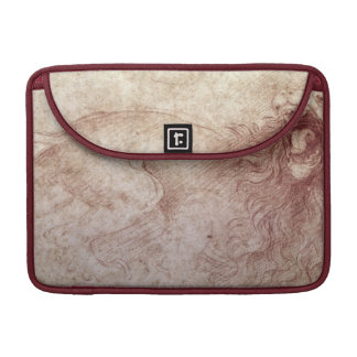 Sketch of a roaring lion (red chalk on paper) MacBook pro sleeve