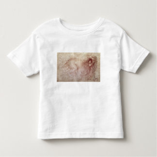 Sketch of a roaring lion (red chalk on paper) t shirt
