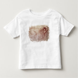 Sketch of a roaring lion (red chalk on paper) toddler t-shirt