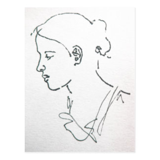 SKETCH OF A WOMAN POSTCARD 2013 any occasion