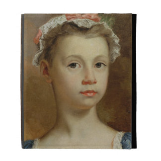 Sketch of a Young Girl, c.1730-40 (oil on canvas) iPad Folio Case