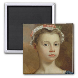 Sketch of a Young Girl, c.1730-40 (oil on canvas) Magnet