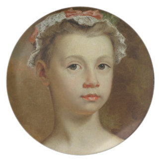 Sketch of a Young Girl, c.1730-40 (oil on canvas) Plate
