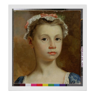 Sketch of a Young Girl, c.1730-40 (oil on canvas) Poster