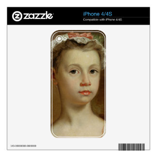 Sketch of a Young Girl, c.1730-40 (oil on canvas) Skins For iPhone 4