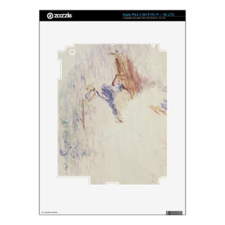 Sketch of a Young Woman in a Boat, 1886 (w/c on ca iPad 3 Decal
