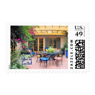 Sketch of Al Fresco Patio You're Invited Postage