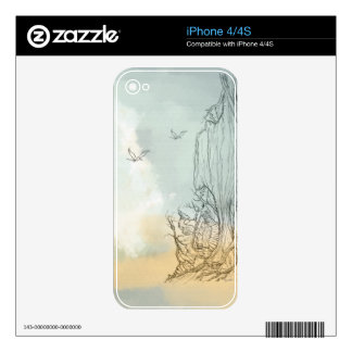 sketch of an imaginary land iPhone 4/4S Skin iPhone 4 Decals