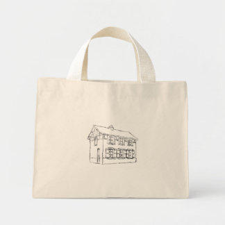 Sketch of an Old House, with Shutters. Canvas Bag