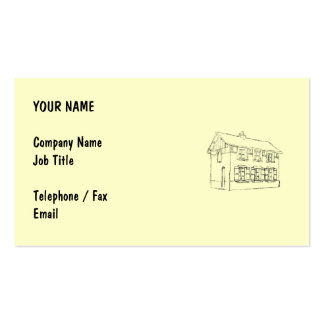 Sketch of an Old House, with Shutters. Business Card