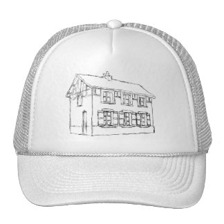 Sketch of an Old House, with Shutters. Trucker Hat