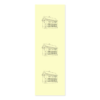 Sketch of an Old House, with Shutters. Mini Business Card