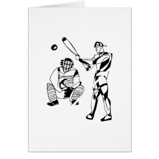 Sketch of Baseball Batter Card