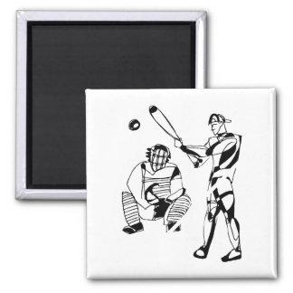 Sketch of Baseball Batter Magnet