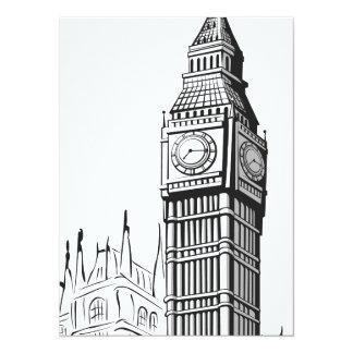 Sketch of Big Ben London Custom Invites