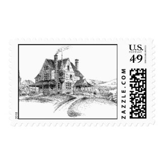 Sketch of Big House Postage