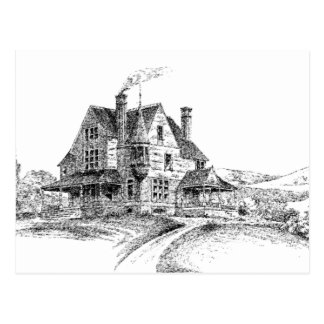 Sketch of Big House Postcard