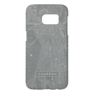 Sketch of Boston City Map Samsung Galaxy S7 Case