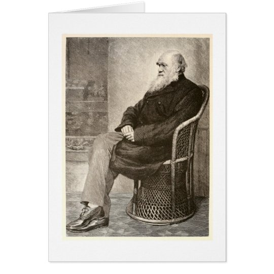 Sketch of Charles Darwin, published in 1891 Card