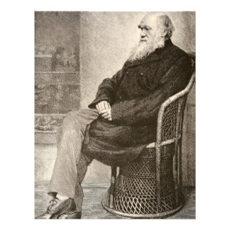 Sketch of Charles Darwin, published in 1891 Letterhead