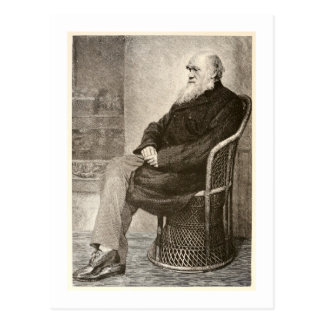 Sketch of Charles Darwin, published in 1891 Postcard