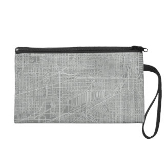 Sketch of Chicago City Map Wristlet