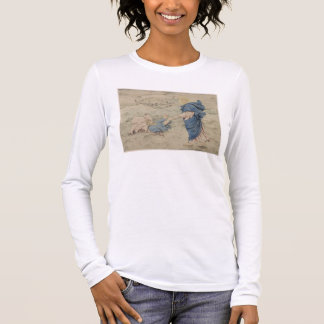 Sketch of Christ Walking on Water (w/c on paper) Long Sleeve T-Shirt
