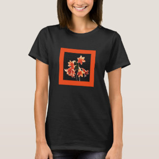 Sketch of Daylilies - Mandarin orange and Rust T-Shirt