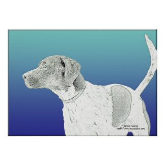 Sketch of Dog Print