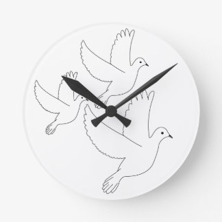 Sketch of Doves Wall Clock