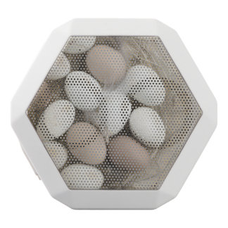 Sketch of eggs in a nest white bluetooth speaker