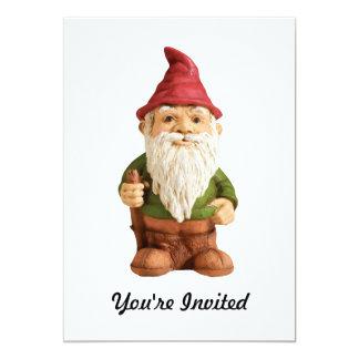 Sketch of Garden Gnome 5x7 Paper Invitation Card