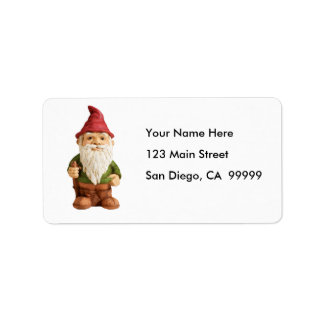 Sketch of Garden Gnome Label