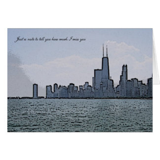 Sketch of Gorgeous Chicago Skyline Card