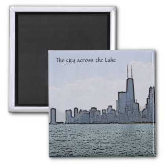 Sketch of Gorgeous Chicago Skyline Magnet