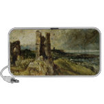 Sketch of Hadleigh Castle (recto) (oil on millboar Portable Speakers