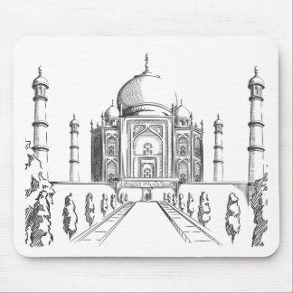Sketch of India Landmark Taj Mahal Mousepads