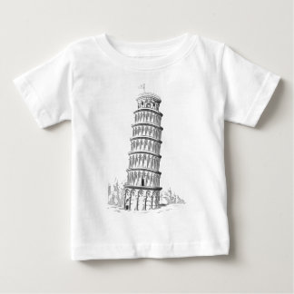 Sketch of Italy Landmark - Leaning Tower of Pisa Baby T-Shirt
