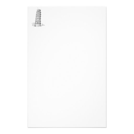 Sketch of Italy Landmark - Leaning Tower of Pisa.p Custom Stationery