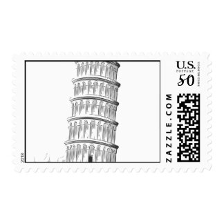 Sketch of Italy Landmark - Leaning Tower of Pisa Postage