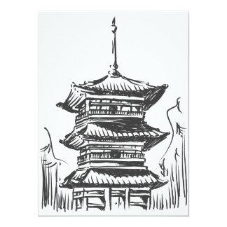 Sketch of Japan Landmark - Kiyomizu Temple Card